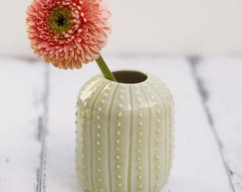 porcelain cactus bud vase