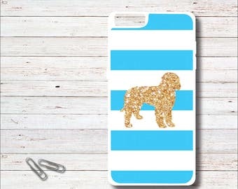 Dog Phone Case, Goldendoodle, Gold Glitter, iPhone Case, Apple, iPhone 6, 6 Plus, 6+, iPhone 7, 7s, 7 Plus, 7+, Samsung Galaxy Case. S6, S7,