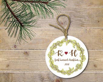First Christmas Ornament, First Christmas Together, First Christmas Married, Our First Christmas, Wedding Gift, Bridal Shower Gift