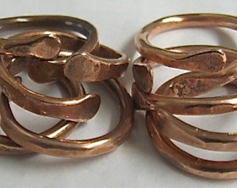 Copper Ring,Adjustable Ring, Circle of Life Ring. Stackable Ring. 100% Pure Copper.