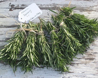 "50 Unique Wedding favors / Fresh ROSEMARY sprigs Organic / Fragrant  3"" Decor/ trendy Wedding Invitations Settings /RESERVE Today/ Limited"