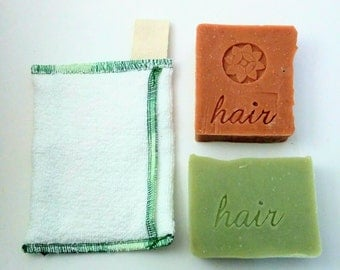 1 Zero waste Soap Savers and 2 Shampoo Bars of your Choice