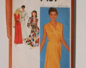 Vintage 80s Misses Summer Party Dress Pattern Simplicity 9489 Size 14 Bust 36