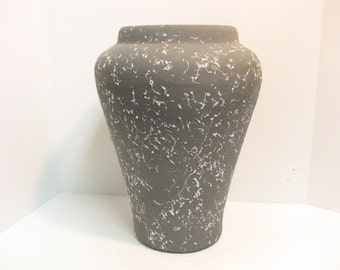 "Gray Floor Vase, Huge 16"" Mid Century PPP Pacific Pottery Products, Grey Pink w/ Textured Finish"