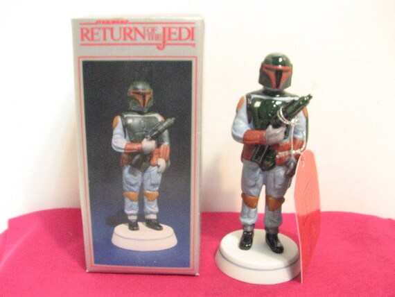 ROTJ Boba Fett Sigma Porcelain Figurine NMIB in Box ca: 1983, Star Wars Return of the Jedi by Towle