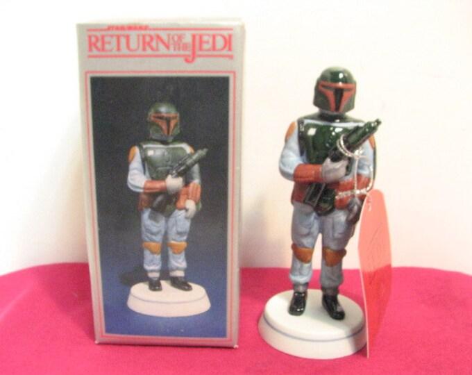 ROTJ Boba Fett Sigma Porcelain Figurine NMIB in Box ca: 1983, Vintage Star Wars Return of the Jedi by Towle