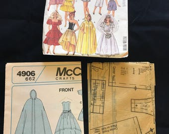 Vintage McCall's Crafts Pattern 4906 Fashion Doll Wardrobe Uncut