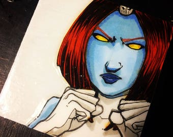 Mystique Fights-Original Art