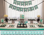 Breakfast at Tiffany's Banner - Holly Golightly use for Birthday Party, Bridal or Baby Shower - Printable File (INSTANT DOWNLOAD!!)