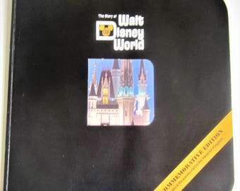 Magic Kingdom Disney World Mickey Mouse Vacation Pictorial Souvenir Story Book Commemorative Vintage 1976 Original Collectible Rare Version
