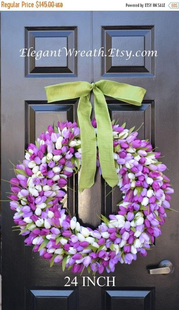 SPRING WREATH SALE 24 inch Spring Wreath- Spring Wreath- Door Wreath 24 inch- Lavender Wreath