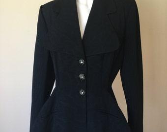 Elegant Vintage 1940's Lilli Ann of San Francisco Jacket with Rhinestone Buttons