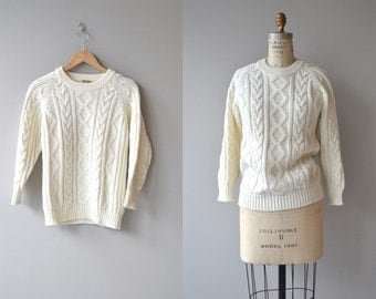 Glenloch sweater | vintage 70s cable knit sweater | 70s fishermans sweater
