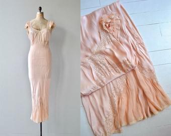 Gelina silk nightgown | vintage 1930s nightgown | silk 30s nightgown