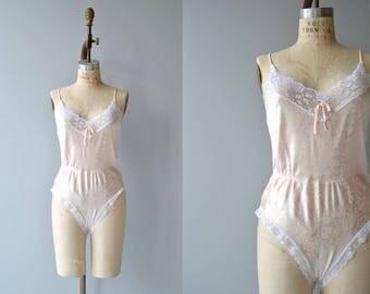 Elissia romper   vintage 1970s lace teddy   lace 70s lingerie