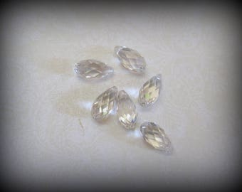 Swarovski Crystal Teardrop Briolette Pendant - Set of 2 - 13mm