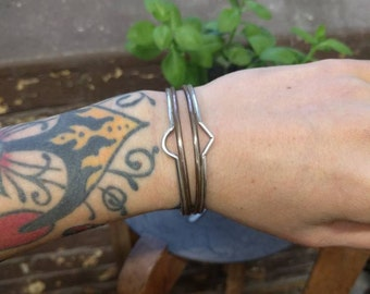 Double Stack Cuffs in Arc or Point