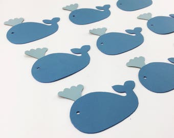 Blue Whale and Spout leather applique die cuts for leather craft project use. Sold individually or in multiples for volume discounts.