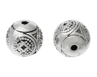 Silver Spacer Bead - Set of 8 beads - #HK1355
