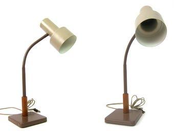Vintage metal gooseneck desk lamp Retro Office Decor 1960s Light Home Decor Adjustable Metal Shade Light