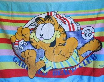 Vintage Garfield Beach Towel 1978 Garfield Beach Club