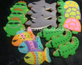 Florida Animal Cookies - Beach Animal Cookies - 15 Cookies