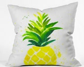 Pineapple Sunshine Throw Pillow