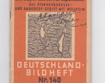 vintage  Die Bayerischen Voralpenseen German language book