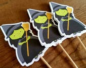 Oz Friends Party - Set of 12 Wicked Witch Cupcake Toppers by The Birthday House