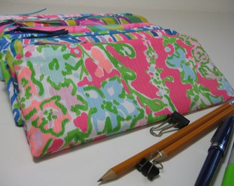 Lilly Pulitzer Perfect Pencil Pouch,Zipper Pouch,Pencil Case, Preppy, (Southern Charm)