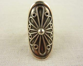 Vintage Sterling Finger Shield Ring