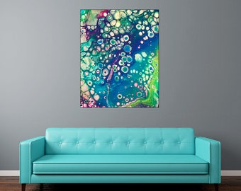 "Liquid Art #8 - 16""x20"" or 20""x20"" - 1-1/4"" Thick Bar Gallery Wrapped Canvas - Artstudio54"