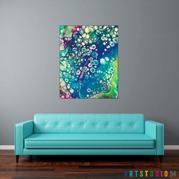 "Liquid Art #8 - 16""x20"" or 20""x20"" - 1-1/4"" Thick Bar Gallery Wrapped Canvas - Artstudio54"