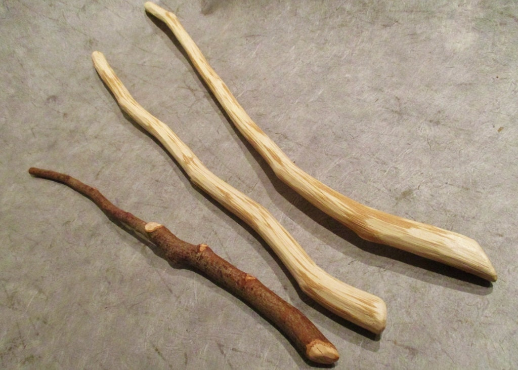 Hazel wood wands hazelnut wood hand carved wand sacred wood for Wooden elder wand