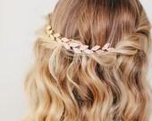Bridal Hair Vine   Gold Leaf Hair Comb   Wedding Hair Piece   Grecian Headpiece   Golden Vine Hairpiece [Petite Gilded Ivy Hair Vine]