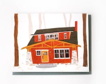 Craftsman Cabin Card