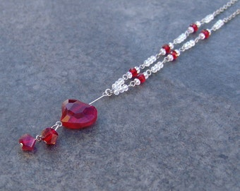 Red Heart Pendant Necklace - Don't Keep Me Hanging