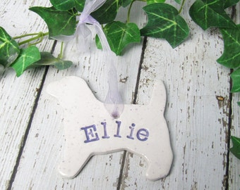 Dog Memorial Ornament Personalized 39 Breeds Available