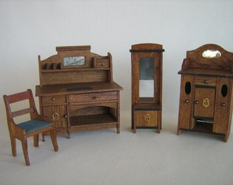Antique German EPPENDORFER and NACKE Dollhouse Furniture- early 1900's