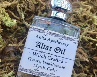 Altar Oil~Sacred Ritual Witch Crafted Oil, Wicca, Magick oil, Pagan, Moon Phase, Hecate, Witch Incense, Grimoire, witch altar, tarot, runes
