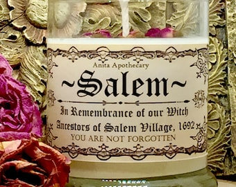 Salem~A tribute to the Witches of Salem Village~Witchcraft, Salem, Witch, Pagan, Witch candle, magick, apothecary, Wicca