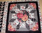 Quilt Pillow Panel Floral Fabric Holiday Crafts Sewing Mothers Day