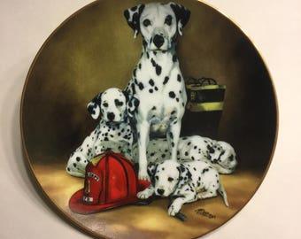"""Dalmatian Collector Plate """"The Fire Brigade"""""""