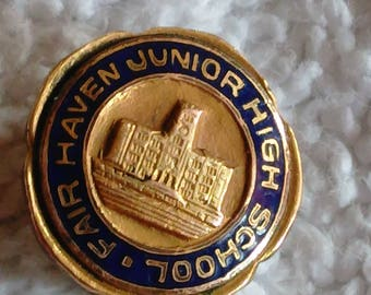 Fair Haven Junior High school Pin Gold Fill