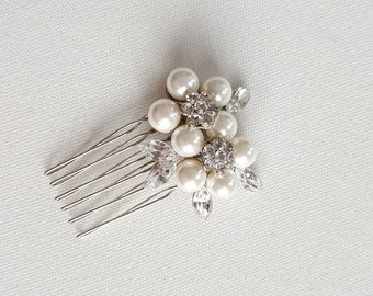 Wedding Hair comb, Rhinestone Pearl Hair Comb, Bridal Hair Accessory