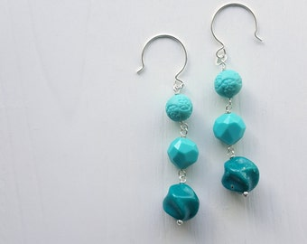 water is life - earrings - vintage lucite and sterling - donation to standing rock medic and healer council