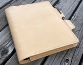 Planner Cover in Vegetable Tanned Leather, Journal Cover