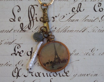 A Charmed Life in Paris - Vintage Assemblage necklace