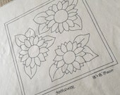 Reserved for Sara Sunflower Rug Hooking Pattern