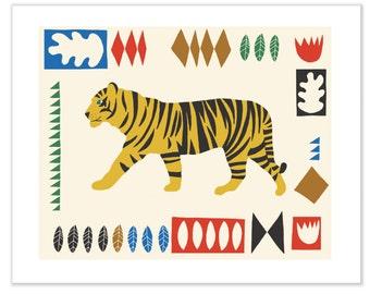 Hello Tiger Print // Tiger Print // Animal Print // Matisse Inspired // Kids Room // Kids Nursery